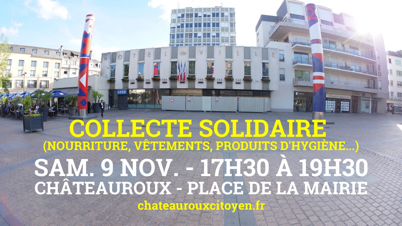 collecte solidaire chateauroux