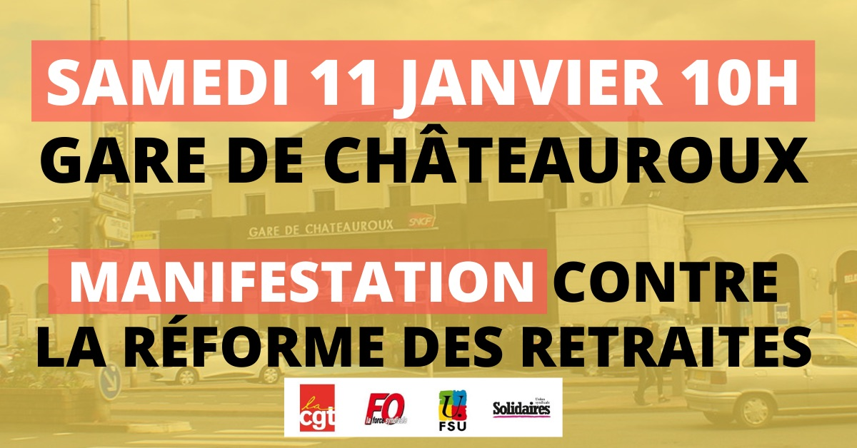 manif 11 janvier gare chateauroux